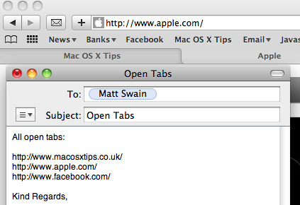 Mail Open Tabs