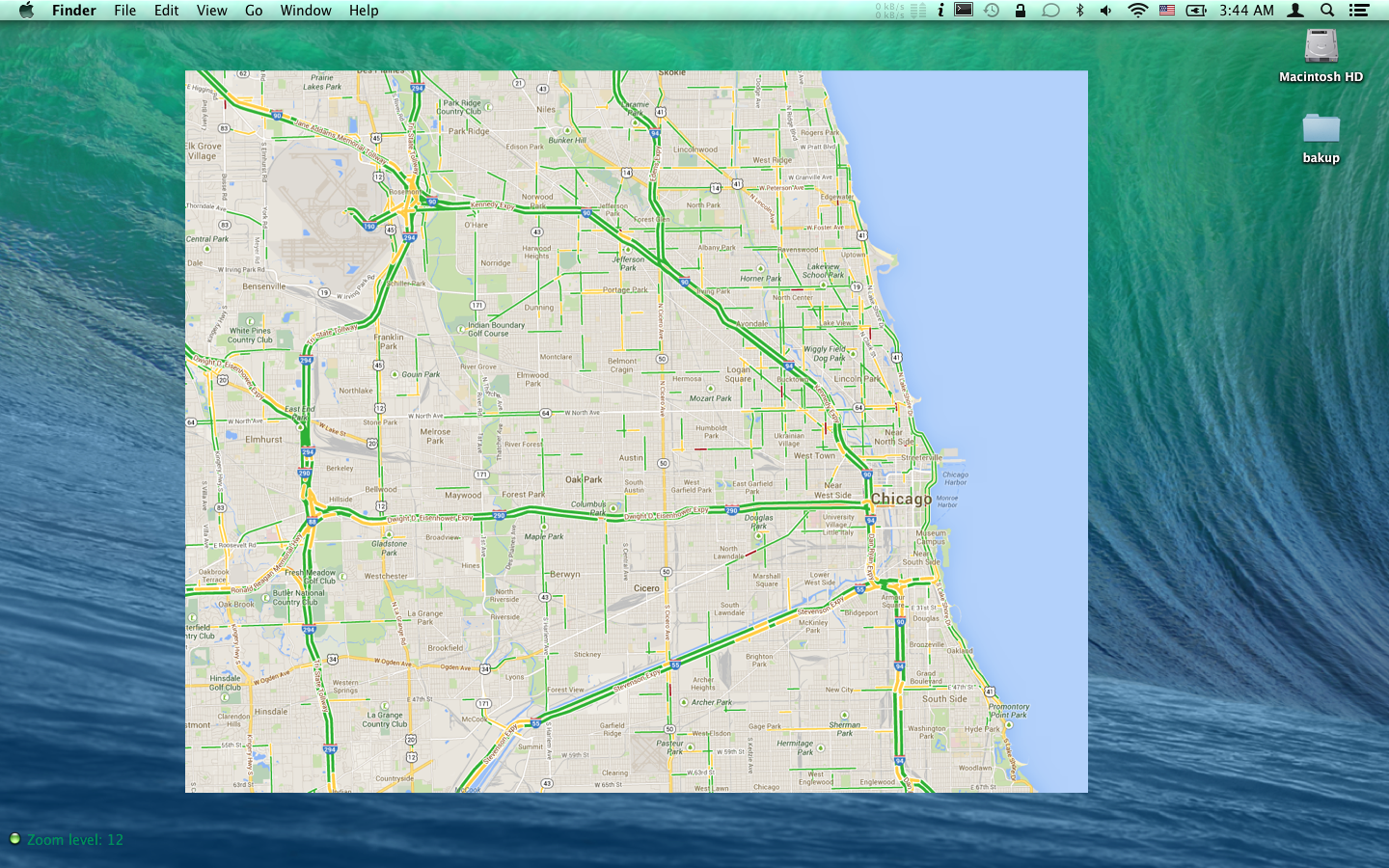 Real Time Local Traffic Map For Geektool Geeklets