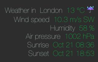 Ansiweather Weather Geeklet + Current Location Update | Geeklets