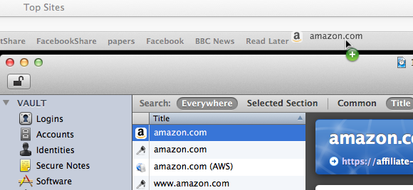 1Password Bookmarklet