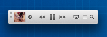 iTunes 11 Miniplayer Controls
