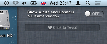 Turn Off Notification Center