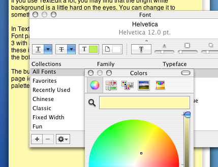Set a Background Colour in TextEdit | TextEdit | Mac OS X Tips